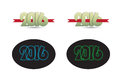 Happy newyear card vector elements Stock Images