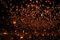 Happy newyear christmas balloon traditional night Royalty Free Stock Photo