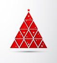 Happy newyear and christmas paper tree background Stock Images