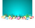 Happy newyear and christmas paper tree bulb background Stock Photo