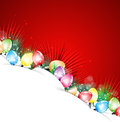 Happy newyear and christmas paper tree bulb background Royalty Free Stock Image