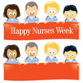 Happy Nurses Week Isolated Royalty Free Stock Images