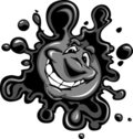 Happy Oil or Ink Spot Smiling Cartoon Stock Photos