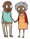 Happy old black couple Stock Image