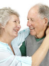 Happy old couple having their good time together Royalty Free Stock Image
