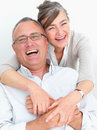 Happy older couple laughing with joy Stock Photos
