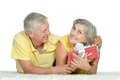 Happy older couple spending time together portrait of a Stock Photography