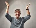 Happy optimistic man Royalty Free Stock Photo