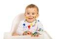 Happy painter baby Royalty Free Stock Photo