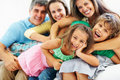 Happy parents with children enjoying Royalty Free Stock Photos
