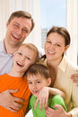 Happy parents with  two children Royalty Free Stock Photography
