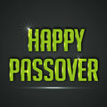 Happy passover vector illustration of shiny text for Royalty Free Stock Photography