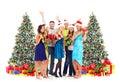 Happy People With Christmas Gi...