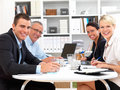 Happy people having a business meeting Royalty Free Stock Images