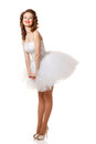 Happy pin up bride professional make hair and style Royalty Free Stock Images
