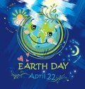 Happy planet smiles. Earth Day. April 22.