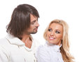 Happy playful lovely couple together Royalty Free Stock Photography
