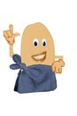 Happy potato wrapped in a towel naked bath Royalty Free Stock Image