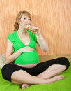 Happy pregnant woman Royalty Free Stock Photo