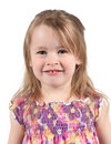 Happy preschool girl Stock Photo