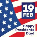 Happy president day greeting card with american flag background for banner sale, promotion