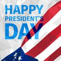 Happy President`s Day greeting card  with US polygonal flag