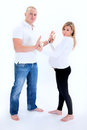 Happy prospective parents together. Stock Images