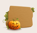Happy pumpkin banner pumkin and vector illustration Stock Photos