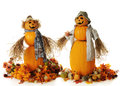 Happy Pumpkin Couple Royalty Free Stock Image