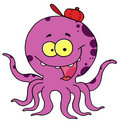 Happy Purple Octopus Stock Photos