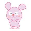 Happy rabbit cartoon collection stock
