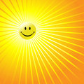 Happy Radiant Smiley Face Stock Photos