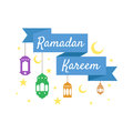 Happy Ramadan Kareem, greeting background vector illustration