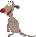 Happy rat cartoon very grey infant Stock Photography