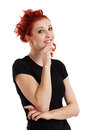 Happy redhead female Royalty Free Stock Photo