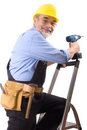 Happy repairman Royalty Free Stock Photo