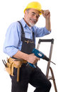 Happy repairman Stock Image