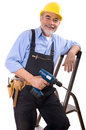 Happy repairman Royalty Free Stock Images
