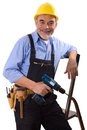 Happy repairman Stock Photo