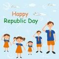 Happy Republic Day of India Royalty Free Stock Photo