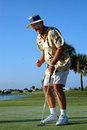 Happy retired golfer Stock Image