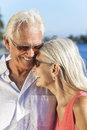 Happy Romantic Senior Man Woman Couple Laughing Royalty Free Stock Image