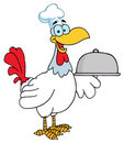 Happy rooster chef Stock Images