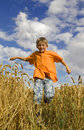 Happy running boy Royalty Free Stock Image