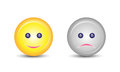Happy and sad faces Royalty Free Stock Photo