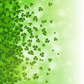 Happy Saint Patrick's day background design, postcard, template, invitation, green shamrock leaves, vector