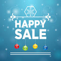 Happy sale and christmas ball percent Royalty Free Stock Photos