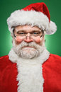 Happy santa claus portrait a smiling Royalty Free Stock Photos