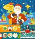 Happy Santa Claus profession series Royalty Free Stock Photo