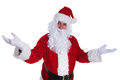 Happy santa claus is welcoming you with joy Royalty Free Stock Photo